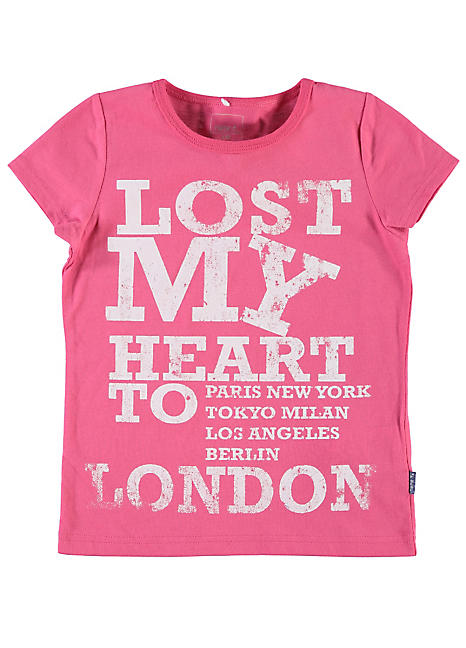 Printed short sleeve t shirt by name it look again for Print name on shirt