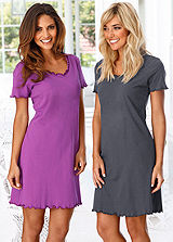 Pack of 2 Short Sleeve Nighties by Vivance