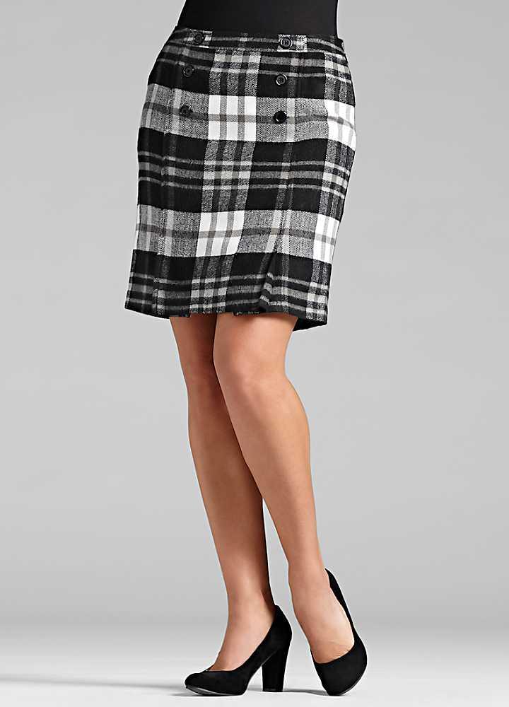tartan pencil skirt look again